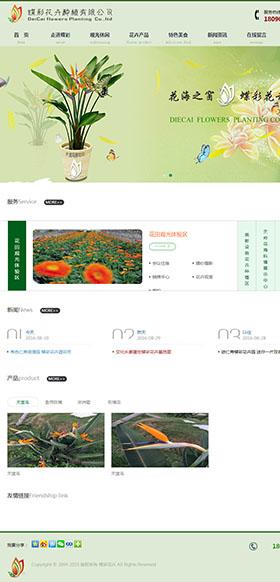 成都蝶彩花卉网站
